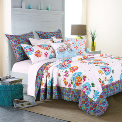 Barefoot Bungalow Ravey Floral Quilt Set