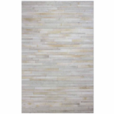 Tucker Leather Hand Stitched Area Rug