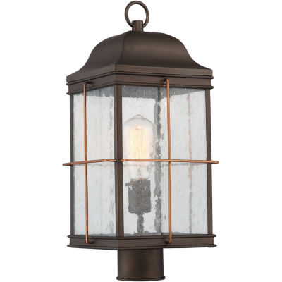 Filament Design 1-Light Bronze With Copper AccentsOutdoor Post Light