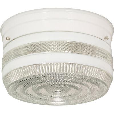 Filament Design 2-Light White Flush Mount