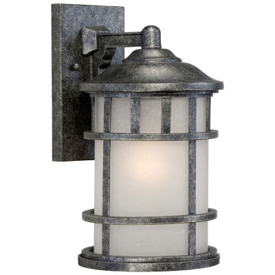 Filament Design 1-Light Aged Silver Outdoor Wall Sconce