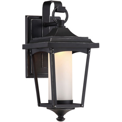 Filament Design 1-Light Sterling Black Outdoor Wall Sconce