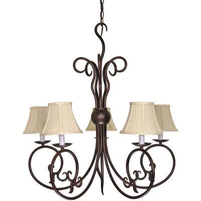 Filament Design 5-Light Old Bronze Chandelier