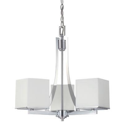 Filament Design 3-Light Polished Chrome Chandelier