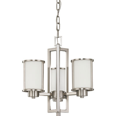 Filament Design 3-Light Brushed Nickel Chandelier