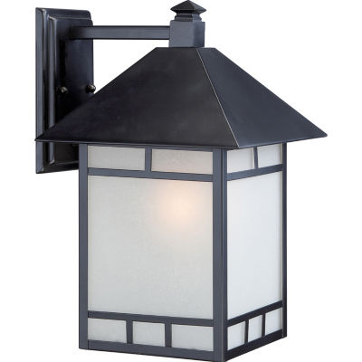 Filament Design 1-Light Stone Black Outdoor Wall Sconce