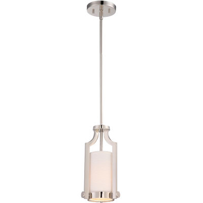 Filament Design 1-Light Polished Nickel Mini-Pendant