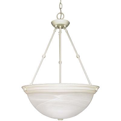 Filament Design 3-Light Textured White Pendant