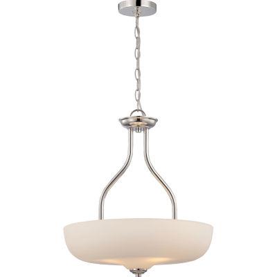 Filament Design 3-Light Polished Nickel Pendant