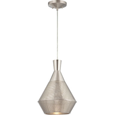 Filament Design 1-Light Satin Steel Pendant