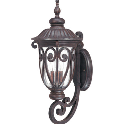 Filament Design 3-Light Burlwood Outdoor Wall Sconce