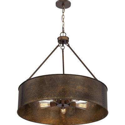 Filament Design 5-Light Weathered Brass Pendant