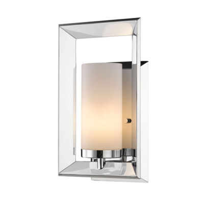 Smyth 1-Light Bath Vanity in Chrome with Cased Opal Glass