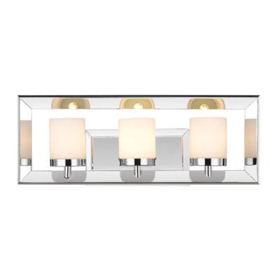 Smyth 3-Light Bath Vanity in Chrome with Cased Opal Glass