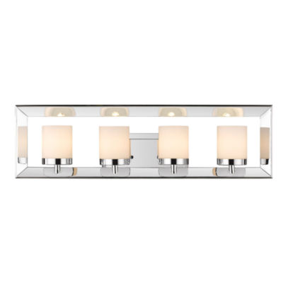 Smyth 4-Light Bath Vanity in Chrome with Cased Opal Glass