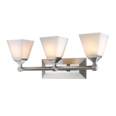 Gentry 3-Light Bath Vanity in Pewter with Opal Glass
