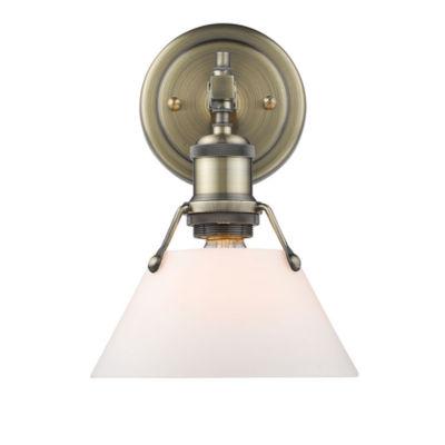 Orwell 1-Light Bath Vanity in Aged Brass
