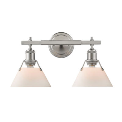 Orwell 2-Light Bath Vanity in Pewter
