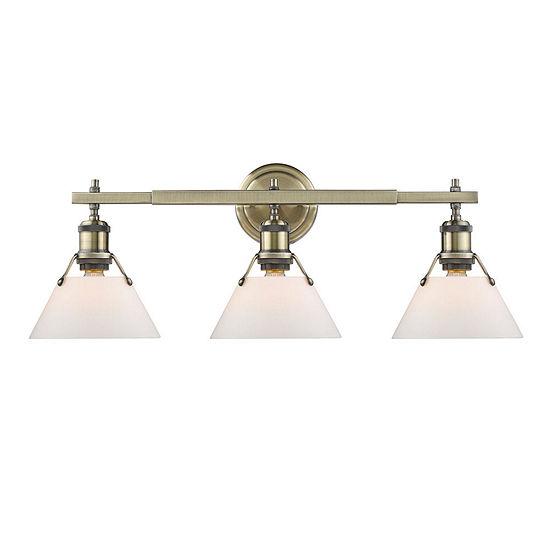 Orwell 3 Light Bath Vanity In Aged Brass