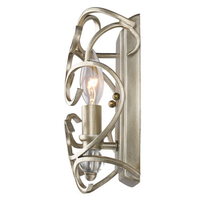 Colette 1-Light Wall Sconce in White Gold