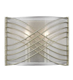 Zara 2-Light Wall Sconce in White Gold