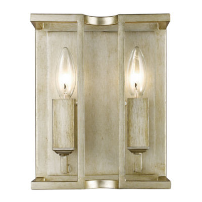 Bellare 2-Light Wall Sconce in White Gold