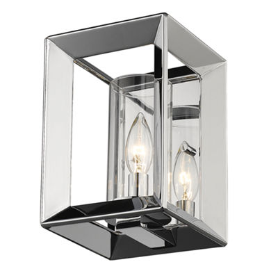 Smyth 1-Light Wall Sconce in Chrome with Opal Glass