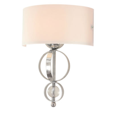 Cerchi Wall Sconce in Chrome with Etched Opal glass