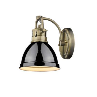 Duncan 1-Light Bath Vanity in Aged Brass