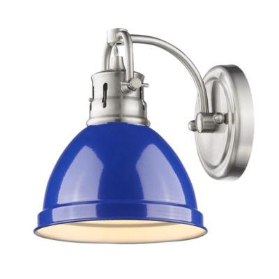 Duncan 1-Light Bath Vanity in Pewter