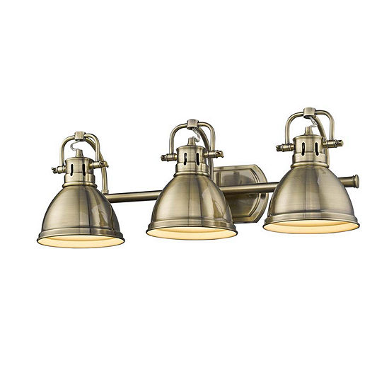Duncan 3 Light Bath Vanity Inaged Brass