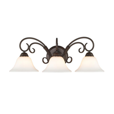 Homestead 3-Light Bath Vanity in Rubbed Bronze