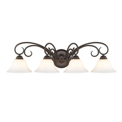 Homestead 4-Light Bath Vanity in Rubbed Bronze