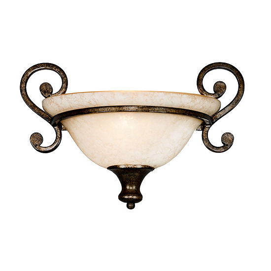 Heartwood 1-Light Wall Sconce in Burnt Sienna with Tea Stone Glass