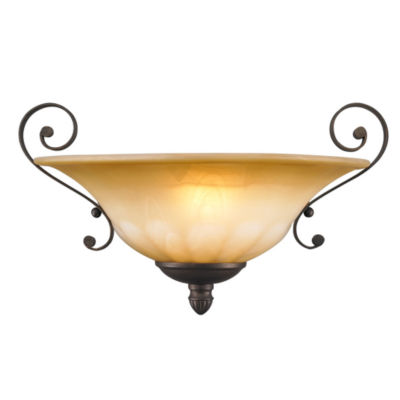 Mayfair Wall Sconce in Leather Crackle with CrèmeBrulee Glass