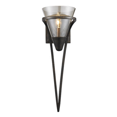Olympia 1-Light Wall Sconce in Burnt Sienna with Baltic Amber Glass