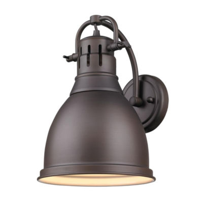 Duncan 1-Light Wall Sconce in Rubbed Bronze