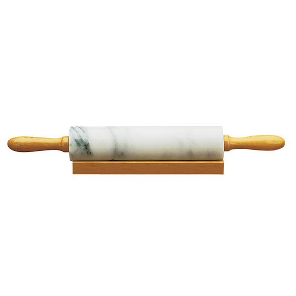 Marble Rolling Pin and Base  White