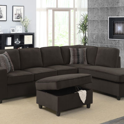 Corvin Reversible Sectional with Storage Ottoman