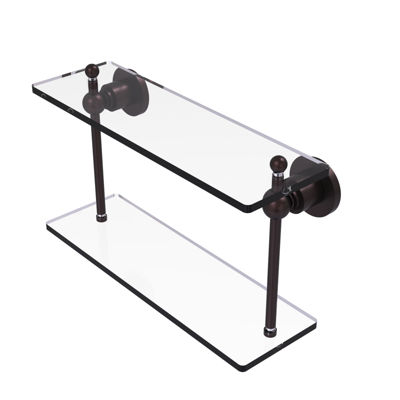 Allied Brass Astor Place Collection 16 IN Two Tiered Glass Shelf