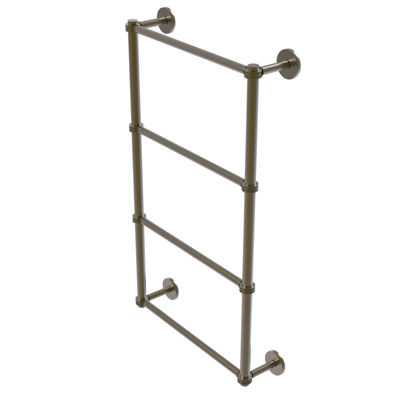 Allied Brass Prestige Skyline Collection 4 Tier 36Inch Ladder Towel Bar with Dotted Detail