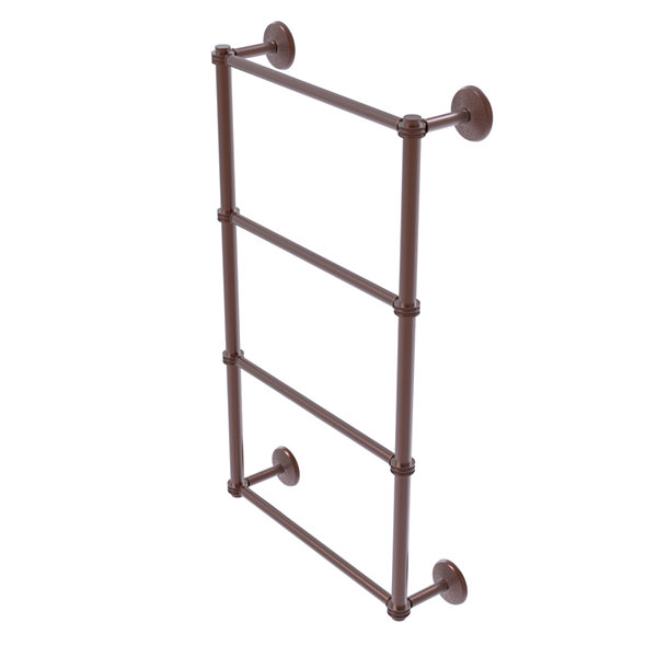 Allied Brass Monte Carlo Collection 4 Tier 30 Inch Ladder Towel Bar with Dotted Detail