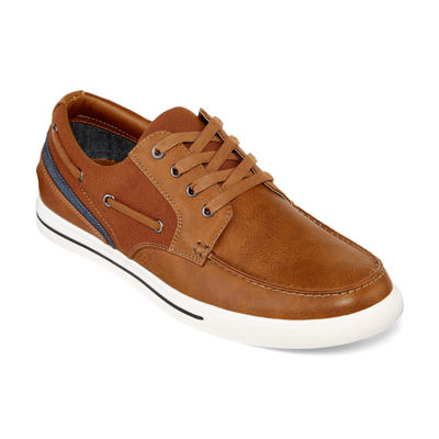 JF J.Ferrar Mens Stewart Boat Shoes Lace-up
