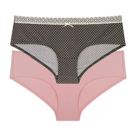Dorina 2 Pair Microfiber Hipster Panty D00938x
