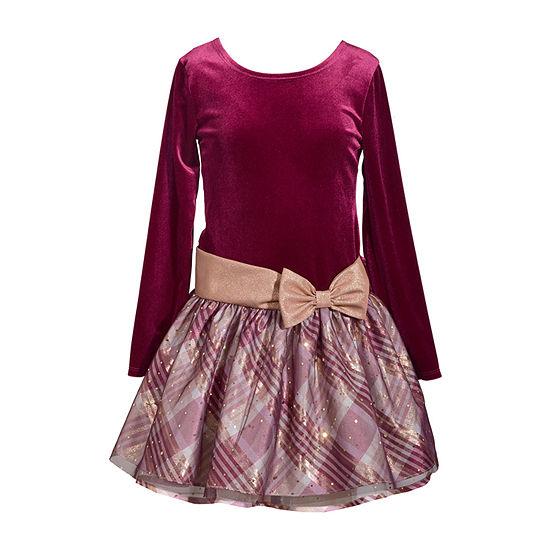 73040c28d449 Bonnie Jean Long Sleeve Drop Waist Dress - Preschool / Big Kid Girls -  JCPenney
