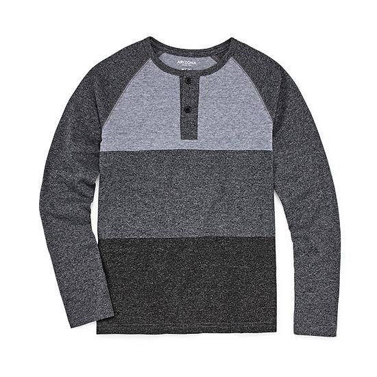 Arizona Boys Long Sleeve Henley Shirt Preschool / Big Kid