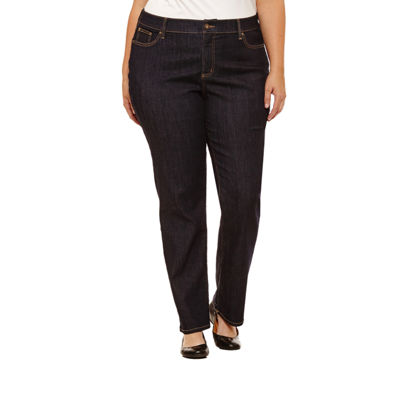 St. John's Bay Straight Leg Jeans - Plus