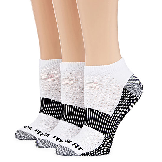 Copper Fit 3 Pair No Show Socks Womens
