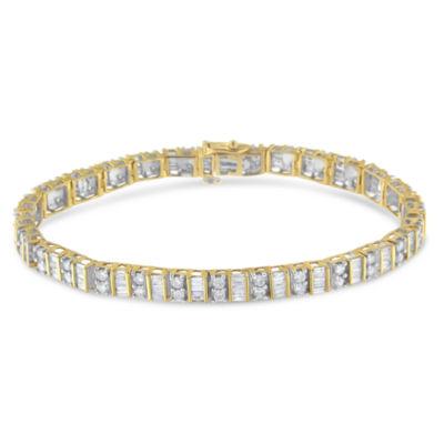 4 CT. T.W. Genuine White Diamond 10K Gold 7 Inch Tennis Bracelet