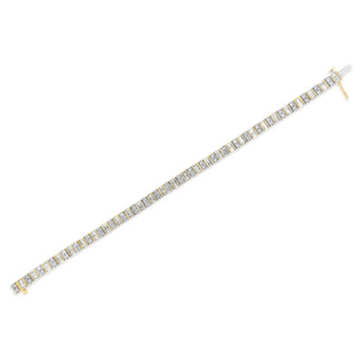 4 CT. T.W. Genuine White Diamond 14K Gold 7 Inch Tennis Bracelet